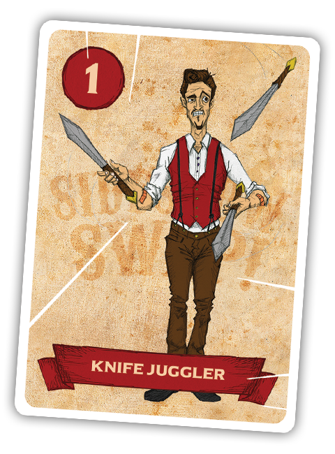 Sideshow Swap! Performer - Knife Juggler