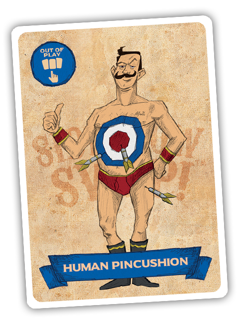 Sideshow Swap! Performer - Human Pincushion